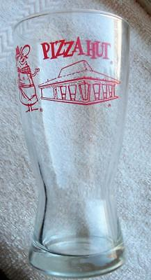VTG COLLECTIBLE 1970s HOURGLASS PIZZA HUT RED ROOF PETE GLASS 10oz ADVERTISING