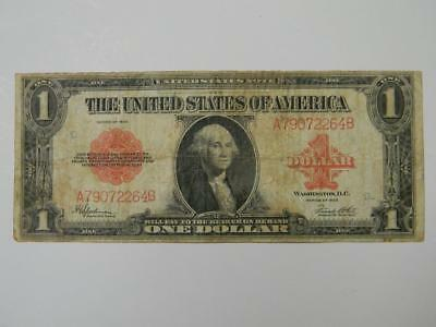 1923 $1 CIRCULATED UNITED STATES NOTE RED SEAL SER #A79072264B #9596 glb