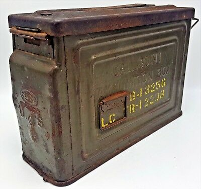 Vintage Canco U.s. Flaming Bomb Ammo Can M1 .30 Cal Metal Ammunition Box Wwii?