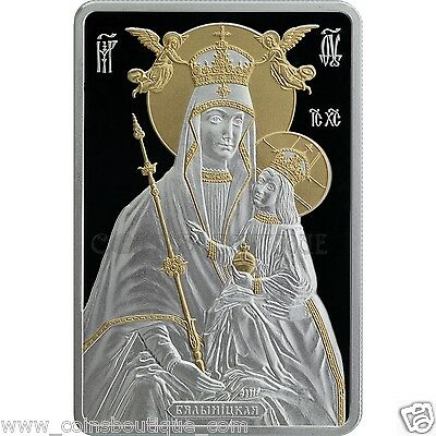 Icon of the Most Holy Theotokos of Bialynitchy 1oz Silver Coin Proof  2014