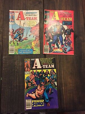 The A-Team Comic Book #1, #2 and # 3 (1984, Marvel)