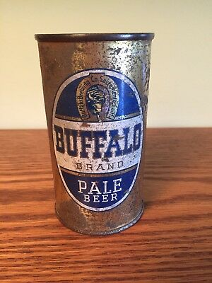 Buffalo Brand Pale Beer Flat Top Beer Can, Sacramento, CA