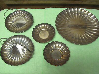 silver scalloped dish tray sterling 950 and sterling 970 marked on bottom
