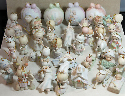 Precious Moments - Assorted lot of 20 Ornaments - Mint, No Box (SP 1004)