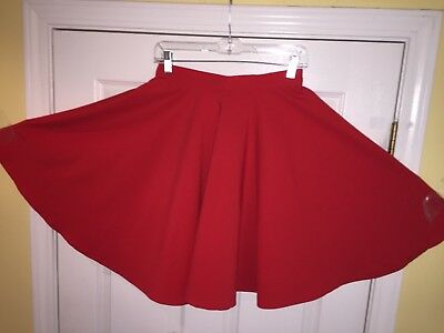Square Dance Ladies Red Skirt - Small