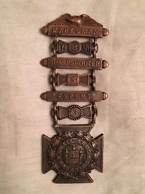 Original Early 1900s New Hampshire National Guard Shooting Medal