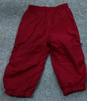 Tommy Hilfiger Baby Boys Lined Track/Casual Pants-Red/Elastic Waist-12/18 months