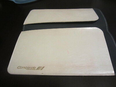 Air France Concorde Airplane Leather Passport Document Ticket Holder Wallet Look