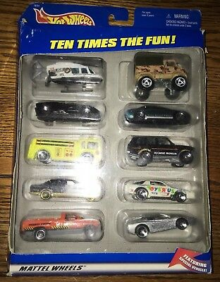 1997 Hot Wheels Toys R Us 10 Pack With Exclusive Rare White Z28