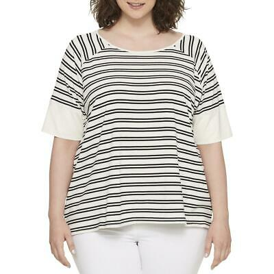 8e4ab2e8 Tommy Hilfiger Womens Striped Short Sleeves Casual Pullover Top Shirt BHFO  0610