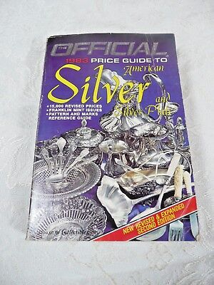 Official Price Guide To Silver Collectibles 1983 PB BOOK 3RD ED #AU305