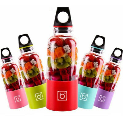 500ML Portable Rechargeable USB Charging Electric Juicer Cup Juice Blender lot