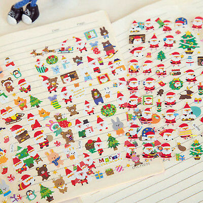 Christmas Stickers for Kids Xmas Craft Gift Card-Making Home Decoration