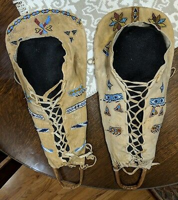 Two Apache Native American Indian Beaded Doll Cradles