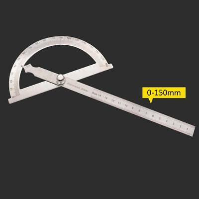Stainless Steel 180 degree Rotary Protractor Round Head Hollow Angle Ruler USAT