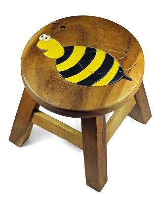 Kids Childrens Childs Wooden Stool Chair. Bee