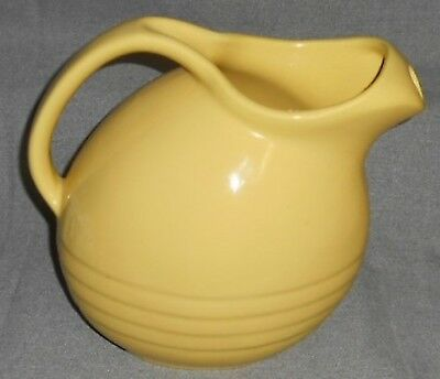 Vintage 1950s MARCREST POTTERY PITCHER Made in USA YELLOW COLOR