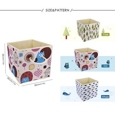 Folding Fabric Cube Storage Box Books Clothes Kid Toys Organiser Foldable