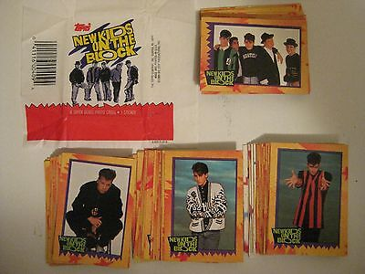 New Kids On The Block 1989 Trading Card Set - 88 Cards Plus 11 Stickers (Topps)