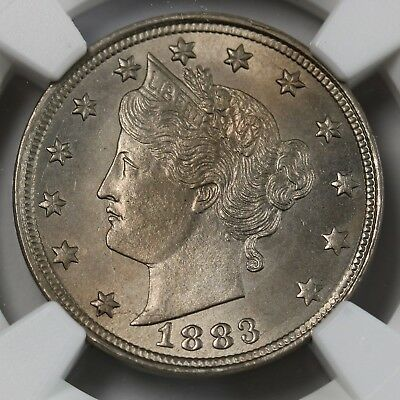 1883 US No Cents Liberty Nickel NGC MS64 Luster & Details