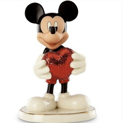 LENOX Disney Mickey Mouse Ceramic Hand-Painted 24K Gold Line Figure Crafts Doll