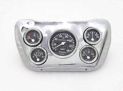 Willys Jeep Complete Tachometer Montage Chromplatte
