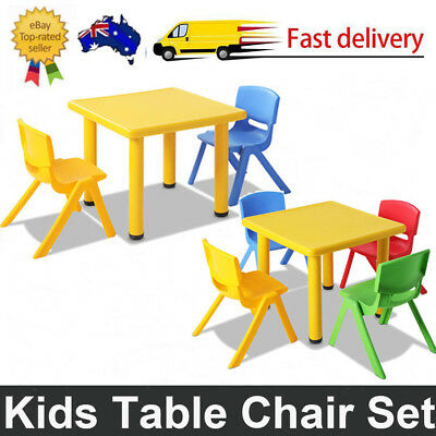 3/5pc Play Set 3 Colours Kids Table and Chairs Children Child Outdoor Furniture