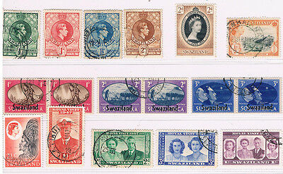 SWAZILAND 1938 - 1962 Collection (17) CV $ 12+