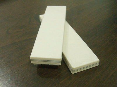1980's Westinghouse Ivory White 2 Line Linen Micarta Knife Scales Blanks Astro