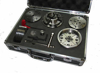 """Rdg Wood Lathe Chuck Set 95Mm Dia 1"""" X 8 Tpi Indexed Backplate Face Plate ++"""