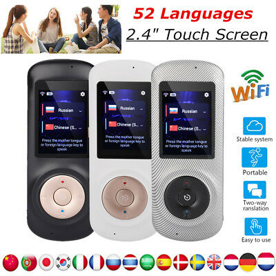 52 Languages WIFI Intelligent Translator Real Time Voice Translation Device 2.4""
