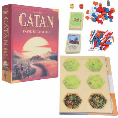 Settlers of Catan 5th Edition Trade Build Settle 3 Or 4 Players Klaus Tueber