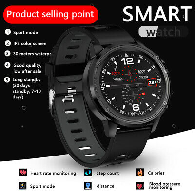 30m Wasserdicht Smartwatch Bluetooth Sport Armbanduhr Fitness Tracker Blutdruck