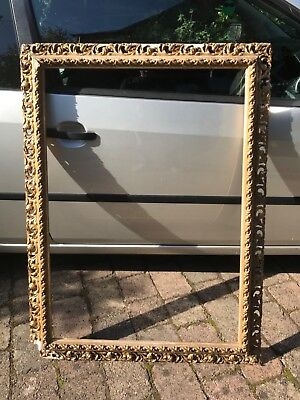 Rare Large Antique 19th/20th Gilt Picture Frame for Repair Restoration.Painting