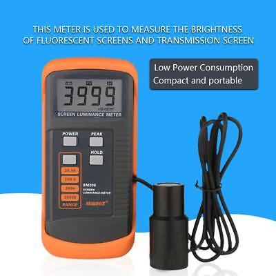 SM208 Screen Brightness Meter Portable Luminance Meter w/ Mini Light Detector