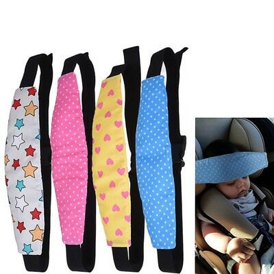 UK Adjustable Child Kids Safety Car Seat Travel Sleep Aid Head Strap Support New