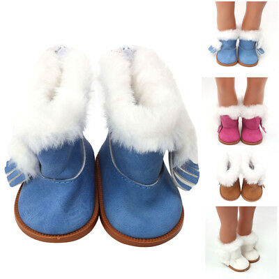 Winter Glitter Doll Shoes For 18 Inch American Girl Doll Accessory Girl's Toy
