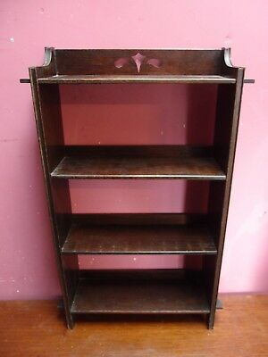 ANTIQUE EDWARDIAN SOLID OAK ARTS & CRAFTS BOOKCASE with PEGGED JOINTS