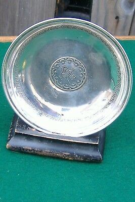 Antique Ottoman Turkish Silver Coin Dish 64 Grams
