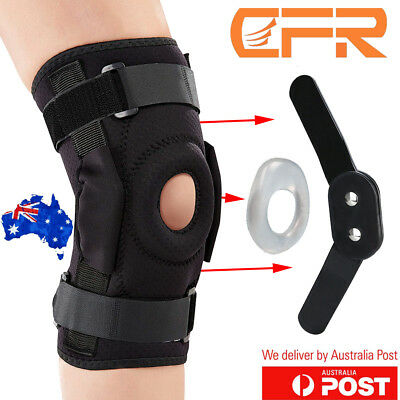 Double Hinged Full Knee Support Patella Brace ACL MCL Arthritis Injury Sports AU