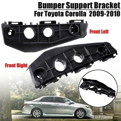 Front Left+Right Bumper Support Spacer Bracket Black For Toyota Corolla 2009-10