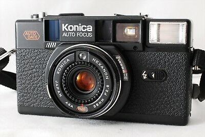 【EXC++++++】Konica C35 AF2 D 35mm Hexanon 38mm f/2.8 Film Camera From Japan #A683