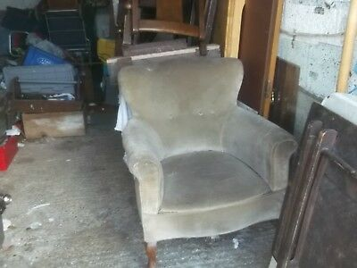victorian armchair for lots of restoration c1890 ideal project £29 buys now