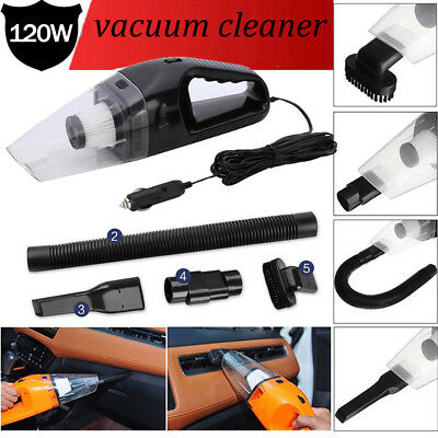 12V/120W Car Vacuum Cleaner Strong Suction Portable Handheld Auto Vacuum Cleaner
