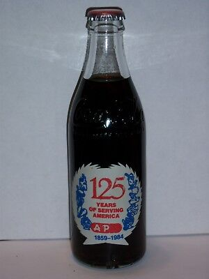 10 Oz Coca Cola Commemorative Bottle - 1984 A&p 125 Years Of Serving America