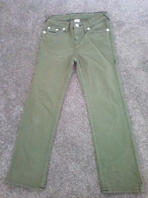 boys True Religion  jeans/canvas trousers never worn size 7