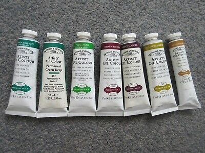 NEW Clearance Bundle of 7 x Winsor & Newton Artists' Oil Paint 37ml Tubes