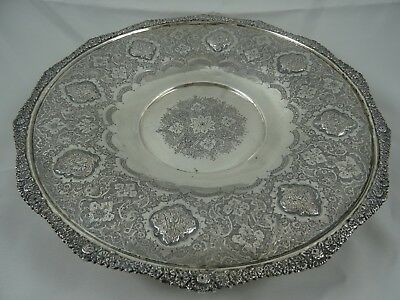 PERSIAN solid silver FRUIT BOWL, c1930, 606gm