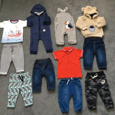 Baby Boys Bundle Of Clothes Autumn/Winter - Age 9-12 Months - All M&S/Carters
