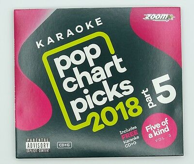 Zoom Karaoke CD+G - Pop Chart Picks 2018 (Part 5) + FREE Ladies of Soul CD+G